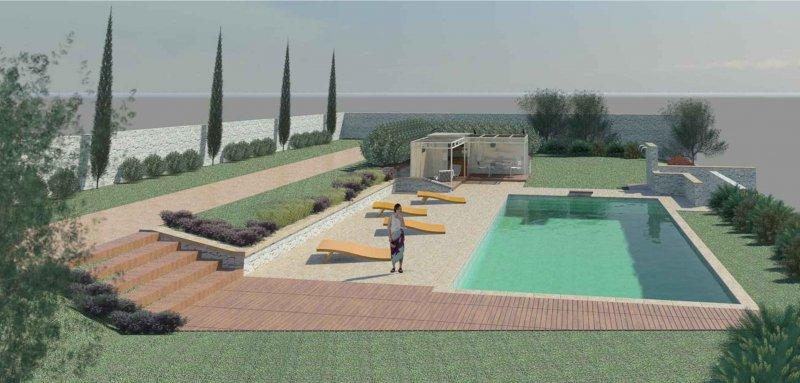 Rivisitazione piscina progettazione e manutenzione for Progettazione giardini siena